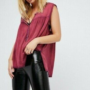 Free People Hudson Tank Top Mulberry Size Small